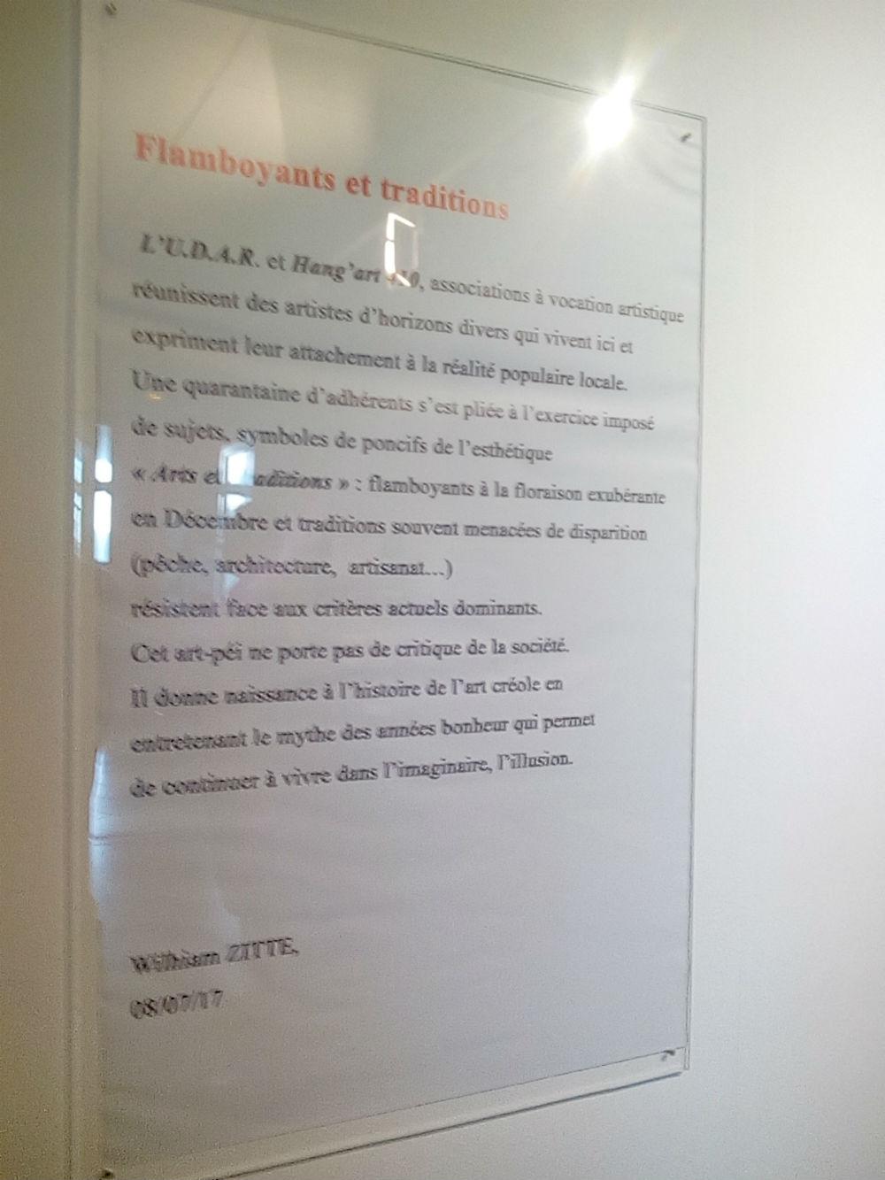 """Texte de Mr W ZITTE """" Flamboyants et Traditions """""""