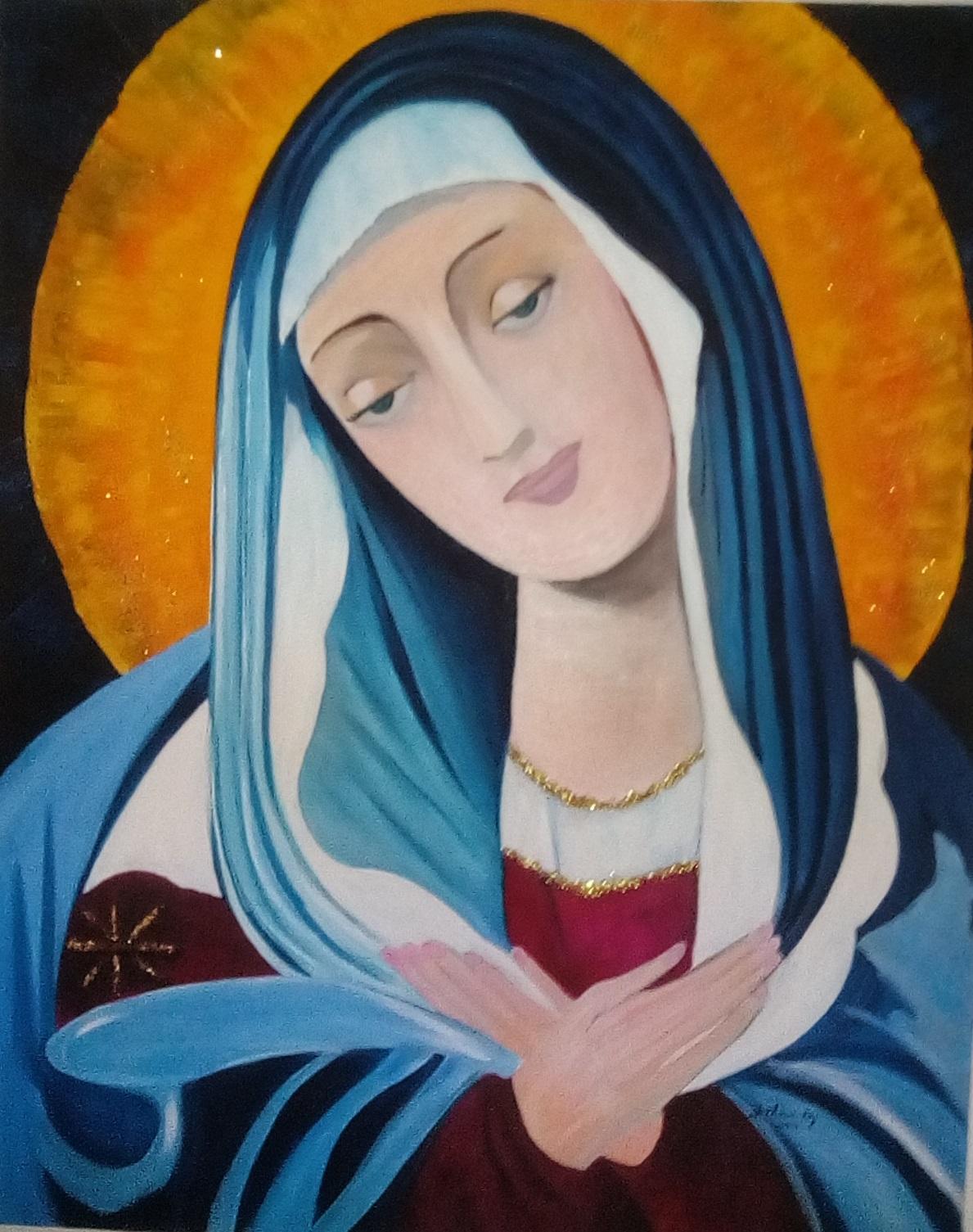""" Icône de la Vierge """