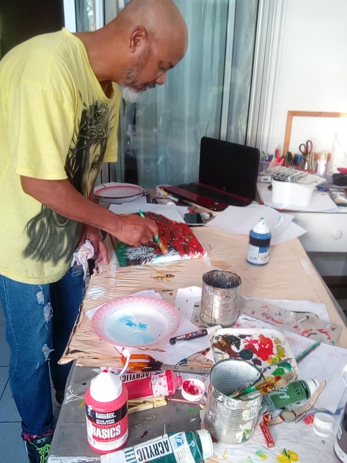 """"""" Le peintre au travail """""""