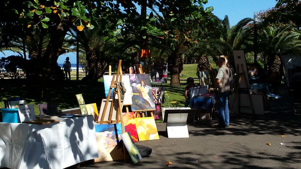 Les artistes à la plage