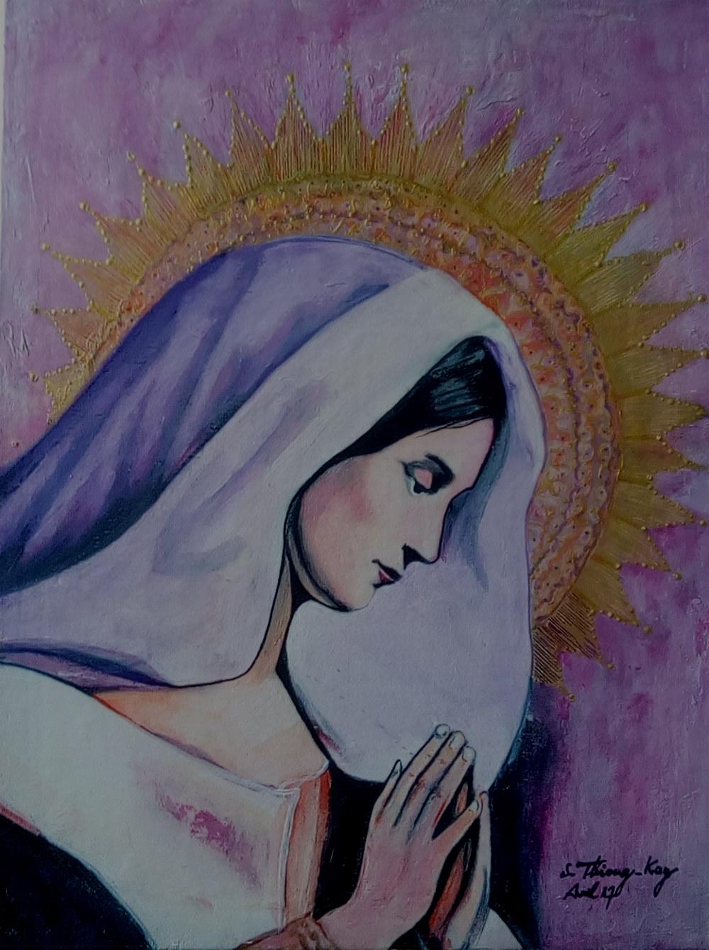 """"""" Vierge en prière """""""